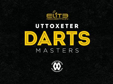 Promotional banner for Darts Masters at Uttoxeter Racecourse.