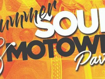 Promotional banner for Soul & Motown party at Uttoxeter Racecourse.
