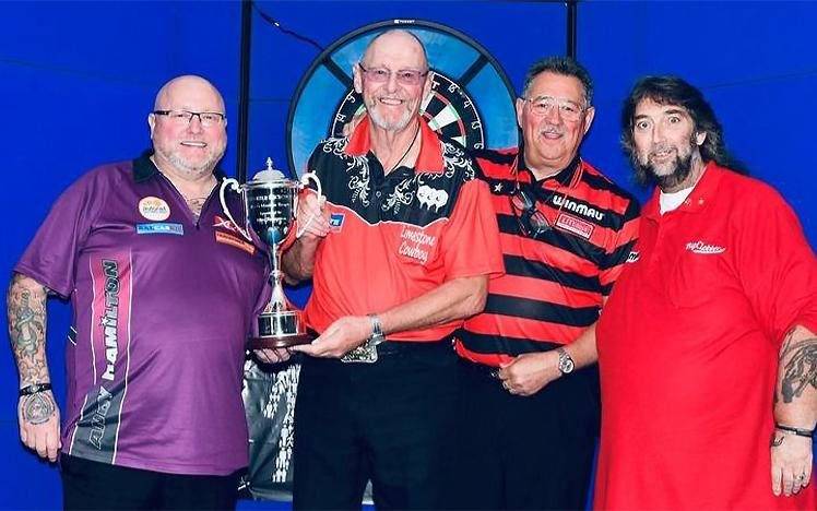 Andy Hamilton with his trophy