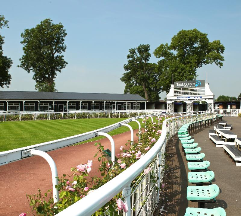 Parade ring at Uttoxeter Racecourse.